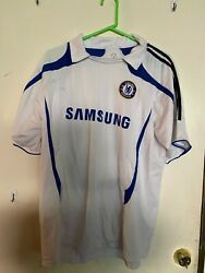 Rare Chelsea Football Club White Soccer Jersey Shirt And Matching Shorts Xl 2