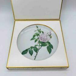 Vintage Nib Teller Roses Of Redoute Plate Tea Rose Hutschenreuther Germany