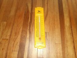 Vintage Jd John Deere Farm Machinery Tractors Advertising Wall Thermometer Sign