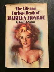 Rare Signed Book The Life And Curious Death Of Marilyn Monroe Robert Slatzer