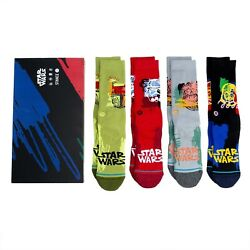2021 Stance X Star Wars Buffed Box Chewie Vader Boba Crew Socks Large Menand039s 9-13