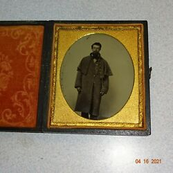 Civil War Soldier 1/6 Ambrotype And Full Case