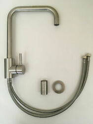 Swivel Kitchen Sink Faucet Single Hole Stainless Steel Brushed Nickel
