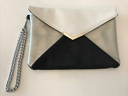 express black white silver evening bag clutch purse $24.97