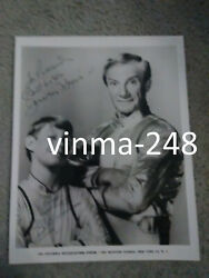 Jonathan Harris And Billy Mumy Signed In Person Inscribed Photo