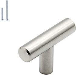 Kitchen Knobs For Cabinets Brushed Nickel Length Single Hole T Bar 15 Pack