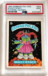 1985 Topps Garbage Pail Kids 63a Spacey Stacy Glossy Psa 9 Mint Big Foot Award