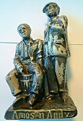 1930and039s Amos And Andy Cast Pewter 4 Statue Heavy Shows Age