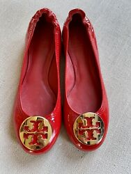 Girls Reva Red Patent Leather Ballet Flats Shoes Size 2c