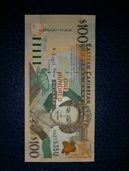 100 Dollars Of East Carribian States Nd36 1998 Anguilla