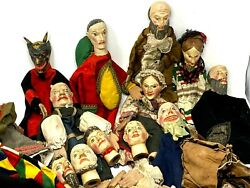Important Set Of Puppets Wooden Carved Of 19 -andegraveme Century And Toy Antique