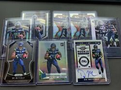 Dk Metcalf Rookie Card Lot Auto - Contenders Optic Prizm Select