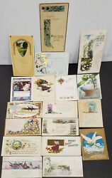 Lot Of 18 Antique Easter Post Cards - 1910-31- Embossed
