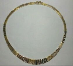 Solid 18k Gold Heavy Stunning Tri-color Cleopatra Necklace 29.93 Grams