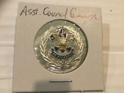 Assistant Council Commissioner Lapel Pin or Collar Brass Insignia No clutches $99.95