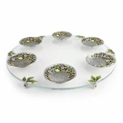 Quest Collection Freesia Seder Plate