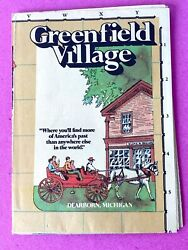 Vintage Greenfield Village Dearborn Michigan Brochure With Village Map Nice