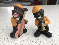 2 Jazz Musician Resin Figurines Good Condition. 5-6 Inches. See Pictures.