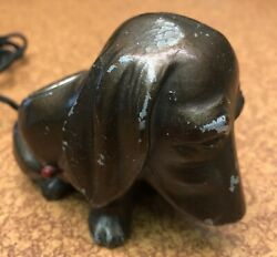 Collectible Vintage Hound Dog Lighter in Nice Shape Tested