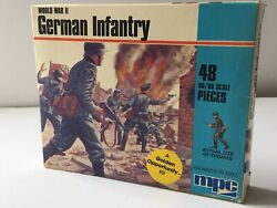 Mpc H0 1/76 Scale German British Infantry Plastic Model Figures Wwii Soldier Kit