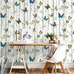 Peel And Stick Wallpaper Removable Butterfly Self Adhesive Roll 17.7 X 9.8 Feet