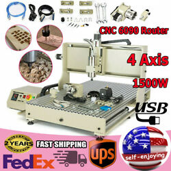 Usb Cnc Router 6090 Engraver 4 Axis Engraving Milling Drill Machine 1500w Good