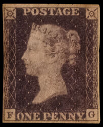 Gb Qv Sg2 1d Penny Black Plate 7 Fg Very Fine Mint With Full Gum Rare Cv Andpound13500+