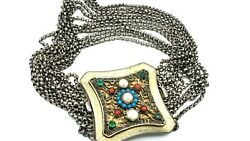 Big Antique 1800s Sterling And 800 Silver Kropfkette Choker Austrian Necklace