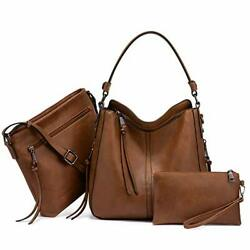 Hobo Handbags for Women Large Shoulder Bag Ladies Brown 10.6 Inch Size whD7 $21.00