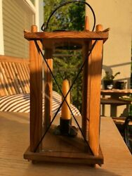 Wooden Antique Candle Lantern-small, Original Candle