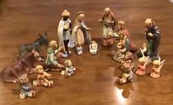 Hummel Goebel Christmas Nativity Set Of 19 Figurines - Excellent Condition