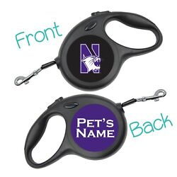 Northwestern NCAA Retractable Dog Walking Leash Personalized for your Pet $21.97