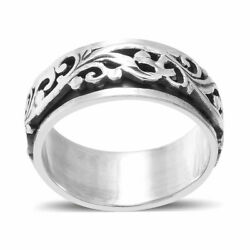 Joy Celtic Fashion Stylish Spinner Band Ring 925 Sterling Silver Jewelry For