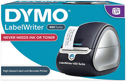 Dymo Label Printer | Labelwriter 450 Turbo Direct Thermal Label Printer, Fast And