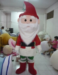 Advertising Santa Claus Mascot Costume Cosplay Christmas Party Game Dress Outfit