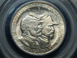 1936 50c Gettysburg Silver Commemorative Half Dollar Ms-65 Pcgs Ogh Gold Cac