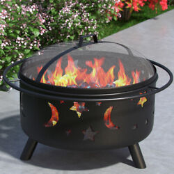 Regal Flame Solar 23 Portable Outdoor Fireplace Fire Pit Ring For Backyard Pa...
