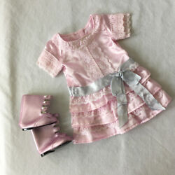 American Girl SAMANTHA FRILLY FROCK Beforever Dress Boots RETIRED $39.95