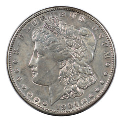 1904-s Morgan Dollar About Uncirculated Condition