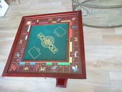 Monopoly Game Table Franklin Mint Collectors Edition Glass Top And Stand Nice