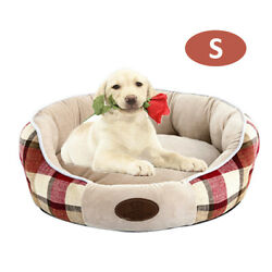 Plush Round Pet Bed Dog Cat Cushion Pad Soft Comfortable Puppy Kennel F5s5