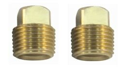 Solid Brass Garboard Boat Hull Drain Plug 1/2 Pipe Plug Sea Ray Bayliner 2 Pack
