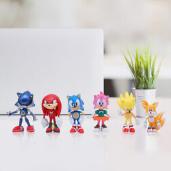 6PCS Sonic Toy Set Collection Kids Toy The Hedgehog Action Figure USA SELLER