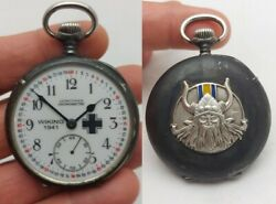 Ww2 Military German Wiking Panzer Division Longines Pocket Watch