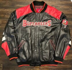 Tampa Bay Buccaneers Vintage Real Leather Jacket Size Xl