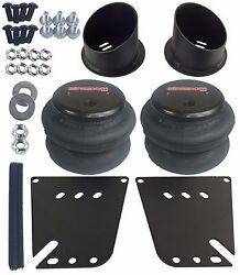 Front Air Ride Suspension Brackets And 2600 Air Bags For 1958-1964 Chevy Impala