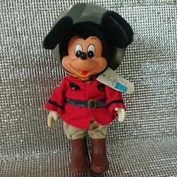 Young Epoch Mickey Mouse 1982 Stuffed Doll Toy Maid In Japan Retro [rare]