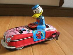 [dameged] Linemar Toy Marx Disney Donald Duck Wind-up Driver Car World Doll