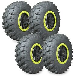 28 Maxxis Carnivore Tires 14 System3 Sb4 4+3 Wheels Lime Can-am Defender