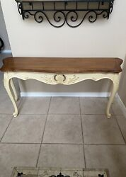 Ethan Allen French Country Legacy Sofa/entry Table Model 13-9621e